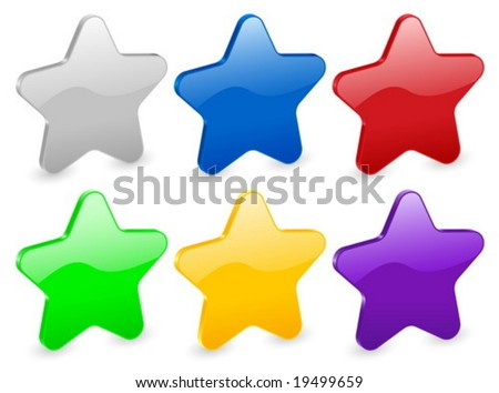 3D star isolated on white background. Vector illustration.