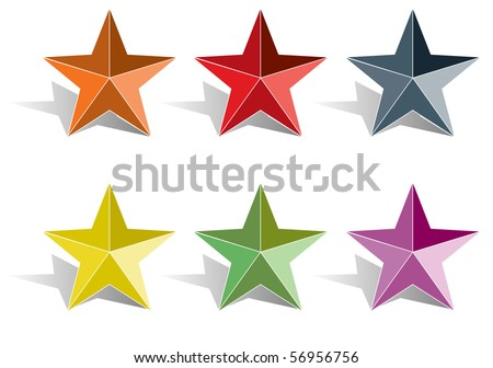 3D Star vector-illustration. - stock vector