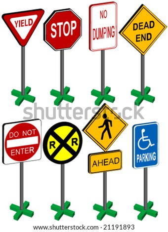 3d street sign vector. - stock vector