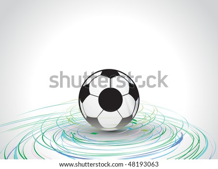 3d style vector football with cyclone wave line  background, vector illustration - stock vector