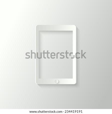 3d tablet - stock vector