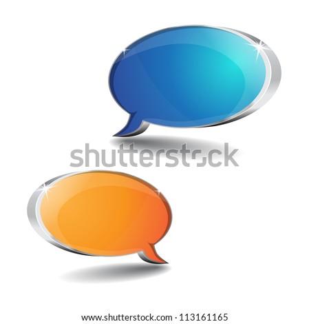 3d Talk Balloon - stock vector