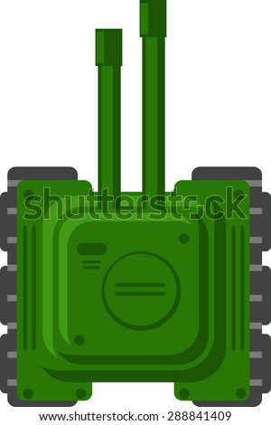 2D Tank Game - stock vector