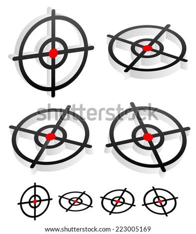 3d target graphics - stock vector