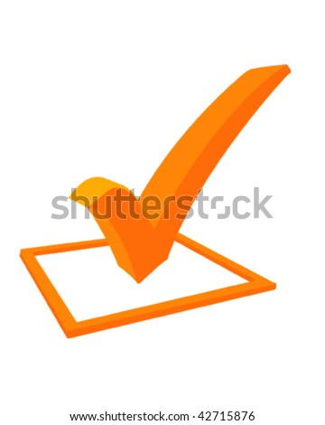 3d Tick - stock vector
