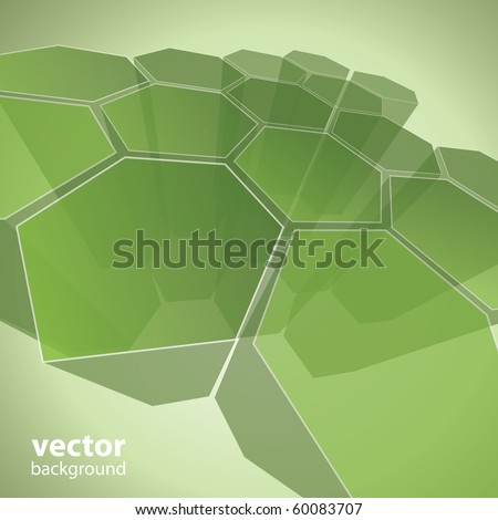 3d transparent polygon abstract background vector - stock vector