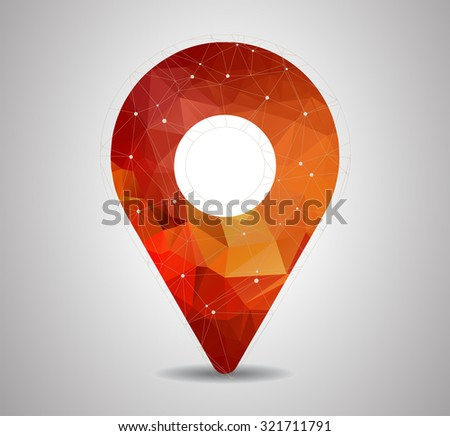 2d travel and navigation planning, concept for your design - stock vector