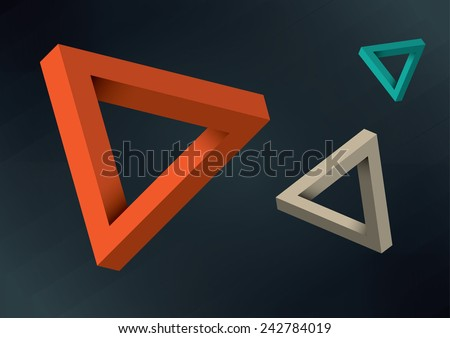 3D Triangles - stock vector