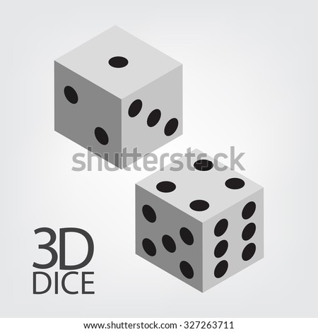 3d two dice vector