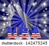 3d USA. Background for the U.S. national holidays. 10eps. Vector illustration. - stock vector