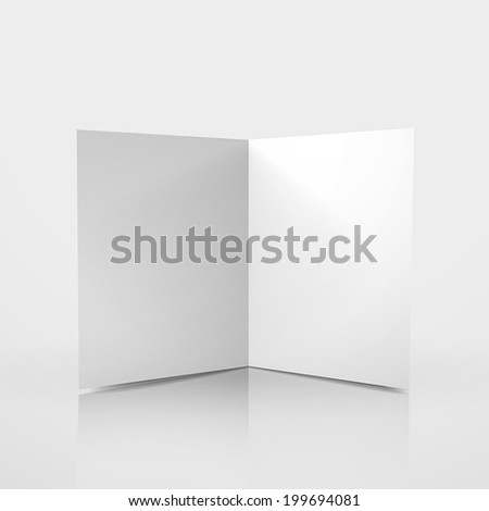 3d vector blank card template on white background - stock vector