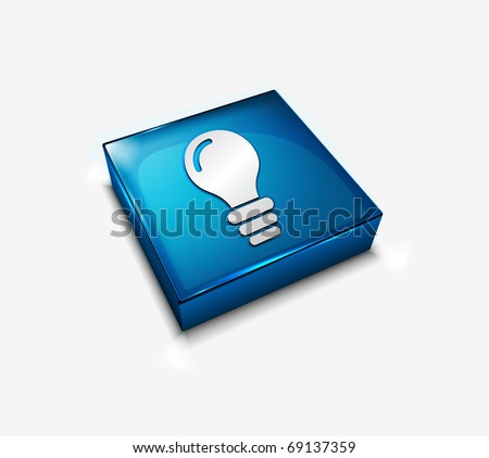 3d vector bulb web icons design element. - stock vector