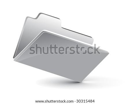 3d vector folder icon - stock vector