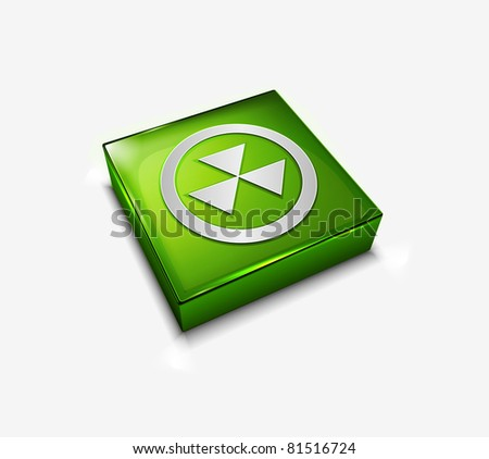 3d vector glossy bio hazard web icon design element. - stock vector