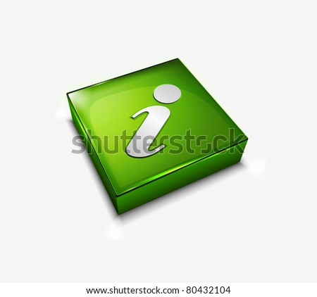 3d vector glossy Information web icon design element. - stock vector
