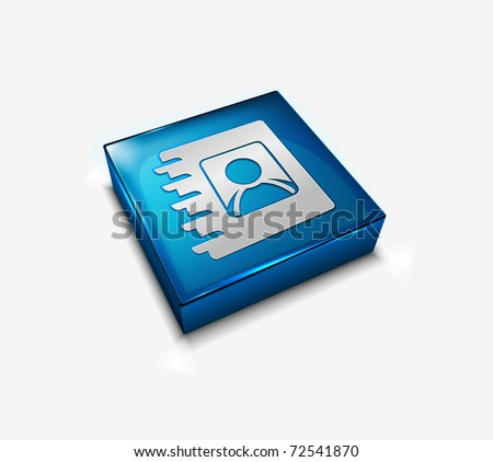 3d vector glossy user directory web icon design element. - stock vector