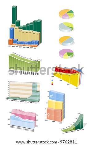 3D vector graph sample - stock vector