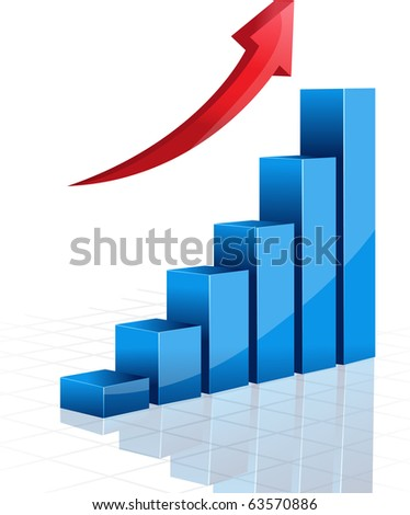 3d vector graphic - stock vector