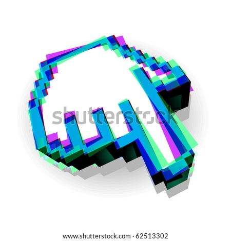3d vector hand mouse symbol , vector illustartion. - stock vector