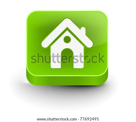 3d vector home icon design with isolated on white - stock vector
