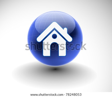 3d vector home icon design with isolated on white. - stock vector