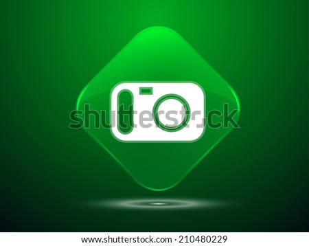3d Vector illustration of a camera icon