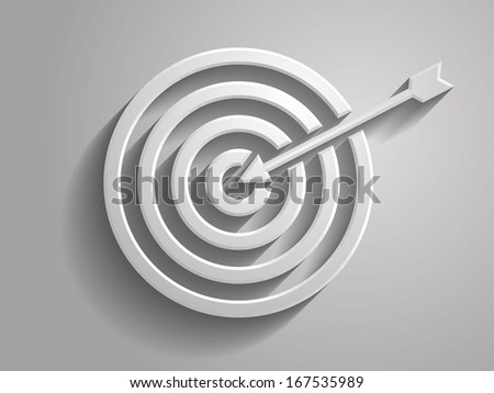 3d Vector illustration of aim icon - stock vector