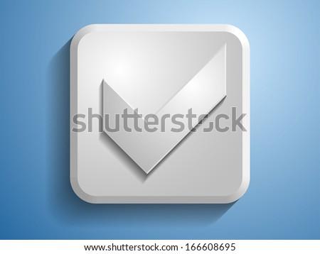 3d Vector illustration of check box icon  - stock vector
