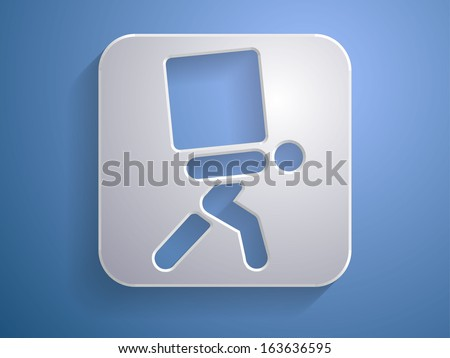 3d Vector illustration of dilivery icon  - stock vector