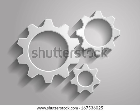 3d Vector illustration of gears icon - stock vector