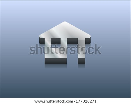 3d Vector illustration of houme icon