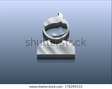 3d Vector illustration of support icon - stock vector