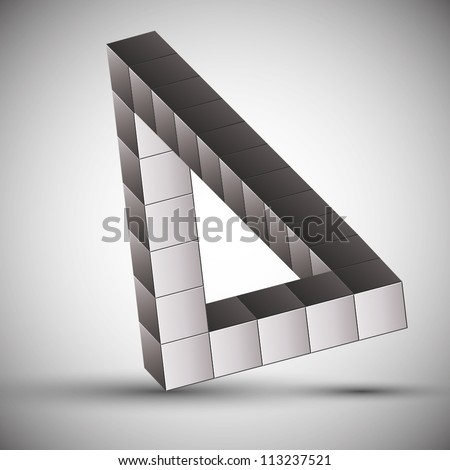 3d vector impossible shape. - stock vector
