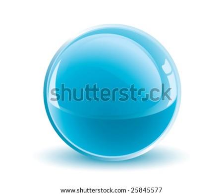 3d vector light blue sphere - stock vector