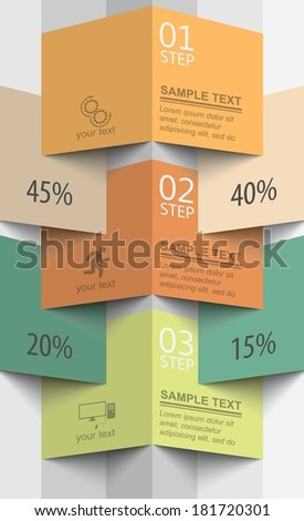 3d vector pattern perspective infographics