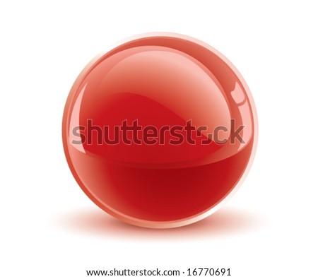 3d vector red sphere - stock vector