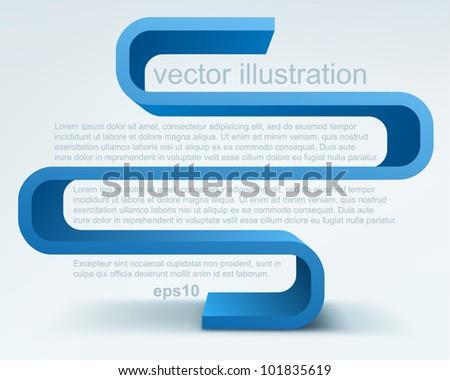 3d vector shelves - stock vector