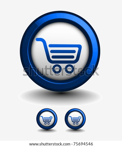 3d vector shopping web icons design element.