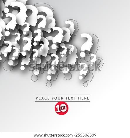 3d vector symbol of question mark. - stock vector