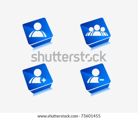 3d vector user web icon design element. includes four versions - stock vector