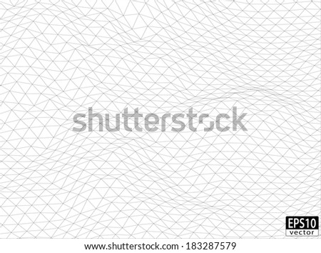 3D Volume Wireframe | EPS10 Vector - stock vector