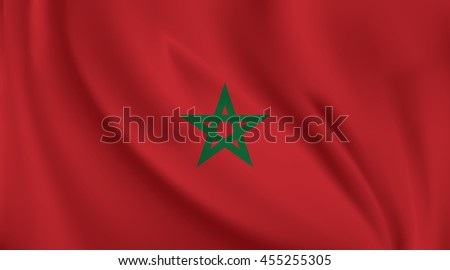 3D Waving Flag of Morocco