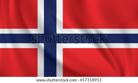 3D Waving Flag of Norway