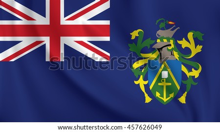 3D Waving Flag of Pitcairn Islands