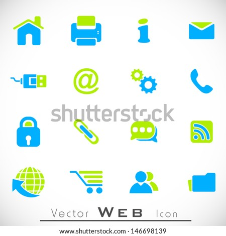 3D web 2.0 mail icons set can be used for websites, web applications. email applications or server Icons  - stock vector