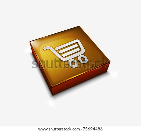 3d web shopping icon design element. - stock vector