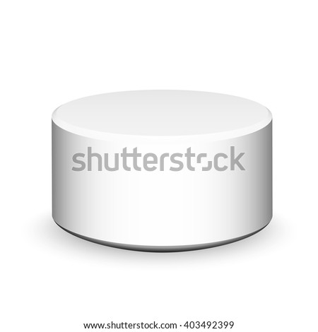 3D white cylinder, box, packaging design - stock vector