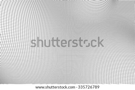 3D wireframe of contour swirl  - stock vector