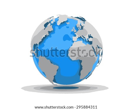 3D World Elements of this image furnished by NASA - stock vector