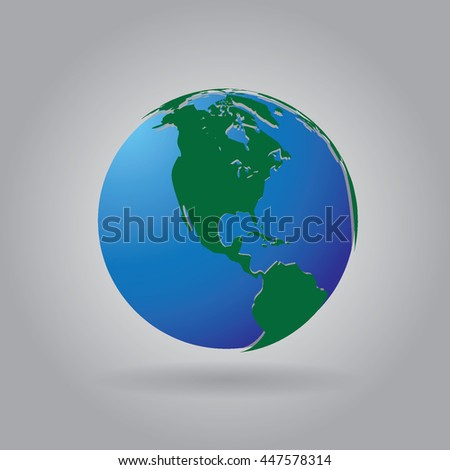 3 d world globe icon white map stock vector 447578314 shutterstock 3d world globe icon with white map of the continents of the world gumiabroncs Choice Image